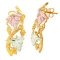 BH Gold Grapes and Leaves Branch Earrings - GLER186
