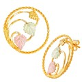 BH Gold Grapes and Leaves Circle Earrings - GLER81
