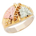 Men's BH Gold Grape and Leaf with Vine Ring - GLC217