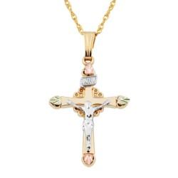 Black Hills Gold Crucifix Pendant GL03381