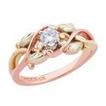 Women's Black Hills Gold Twining Vines Engagement & Wedding Ring Set - GLWR938SD