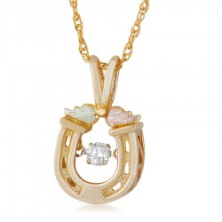 BH Gold Diamond Lucky Horseshoe Pendant - GLPE3802X