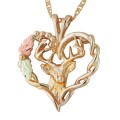 BH Gold Deer Heart Pendant - GL03718