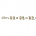 BH Gold on Silver Round Links Bracelet 8231-GS