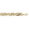 BH Gold Curly Vines Bracelet w/ Black Enamel 8276