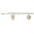 BH Gold on Silver Charms Bracelet 8308-GS