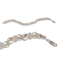 BH Gold on Silver Heart Leaves Bracelet 8396-GS
