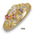 FR4-GN - Mothers Ring with Genuine Stones