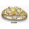 G1143D Ladies Black Hills Gold Ring with Diamond