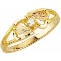 Women's Black Hills Gold Ring w/ Diamond G1143D