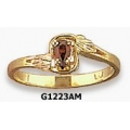 G1223AM - Ladies Black Hills Gold Ring with Amethyst