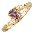 Women's Black Hills Gold Ring w/ Amethyst G1223AM