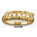 G1272D - Ladies Black Hills Gold Ring with Diamonds