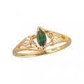 Women's Black Hills Gold Ring w/ Created Emerald G1346CRE