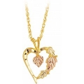Black Hills Gold Heart Within Heart Pendant G2077