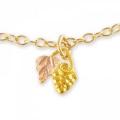 Black Hills Gold Grape & Leaf Pendant G221