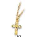 G270 - Black Hills Gold Cross Pendant