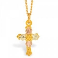 Black Hills Gold Cross Pendant G270
