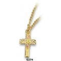 G274 - Black Hills Gold Cross Pendant