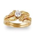 Women's Gold Engagement & Wedding Ring Set G4456EW