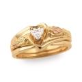 Women's Gold Engagement & Wedding Ring Set G4457EW