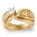 Women's Gold Engagement & Wedding Ring Set G4458EW