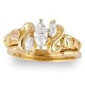 Women's Gold Engagement & Wedding Ring Set G4459EW