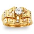 Women's Gold Engagement & Wedding Ring Set G4462EW