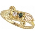 Women's Black Hills Gold Mother's Ring w/ Genuine Stones G904-GN