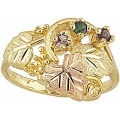 Women's Black Hills Gold Mother's Ring w/ Sythetic Stones G905-SY