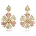 Black Hills Gold Snowflake Dangle Earrings Set GL01287