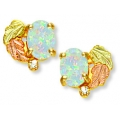 BH Gold Post Opal Earring Set w/ Diamonds GL01387
