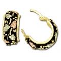Black Hills Gold Black Antiqued Earring Set GL01707