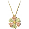 Black Hills Gold Snowflake Pendant Necklace GL03225