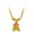 Black Hills Gold Rose Pendant Necklace GL03293