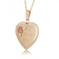 "BH Gold-Filled Heart ""I Love You"" Locket Pendant Necklace GL03606"