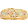 Women's Black Hills Gold Wedding Ring w/ Diamonds GSD1845D