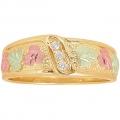 Men's Black Hills Gold Wedding Ring w/ Diamonds GSD1846D