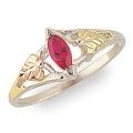Women's Sterling Silver Ring w/ Synthetic Birthstone MR1346SY