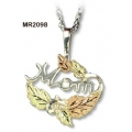 "Sterling Silver ""Mom"" Pendant MR2098"