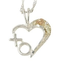 Sterling Silver X O Heart MR2355