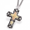 Antiqued Sterling Cross Pendant MR2368ANT
