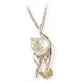 Sterling Silver Cat Pendant MR2455