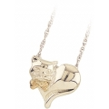 Sterling Silver Cat with Bow Tie Pendant MR2602