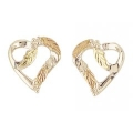 Sterling Silver Heart Earrings MR3019