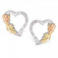 Sterling Silver Heart Earrings MR3182