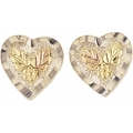 Sterling Silver Button Heart Earrings MR366