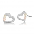 BH Gold on Silver Heart Earring Set MRL01013