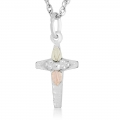 BH Gold on Silver Cross Pendant Necklace MRL06003