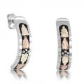 BH Gold on Silver Post Antiqued Earring Set MRLER3037